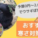 【予算2,000円以内】うさぎのオススメ寒さ対策6選!うさぎに必要な冬支度とは?