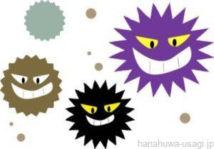 菌、ウイルス、寄生虫の感染で糞に異常が生じる