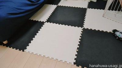 うさぎ部屋んぽ床材はジョイントマットの上に防滑消臭マットがおすすめ